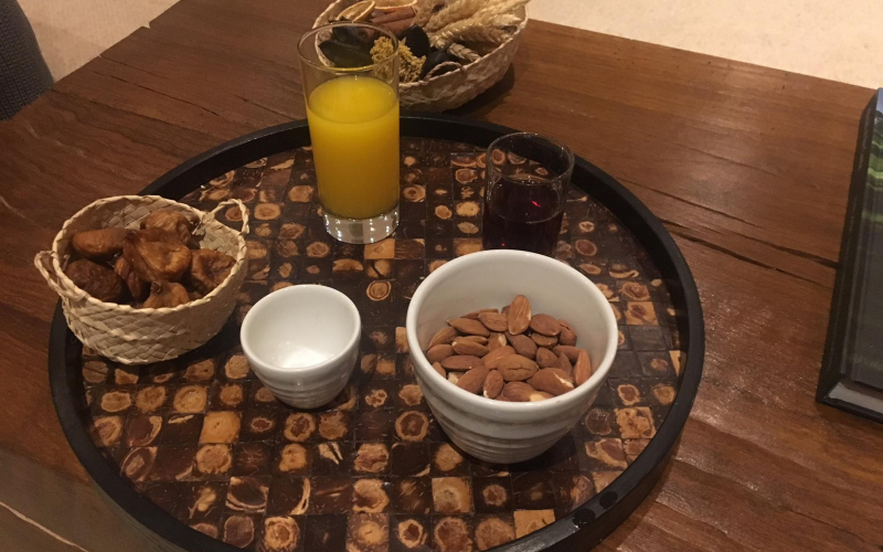 Welcome snack and drink Anantara Vilamoura Portugal
